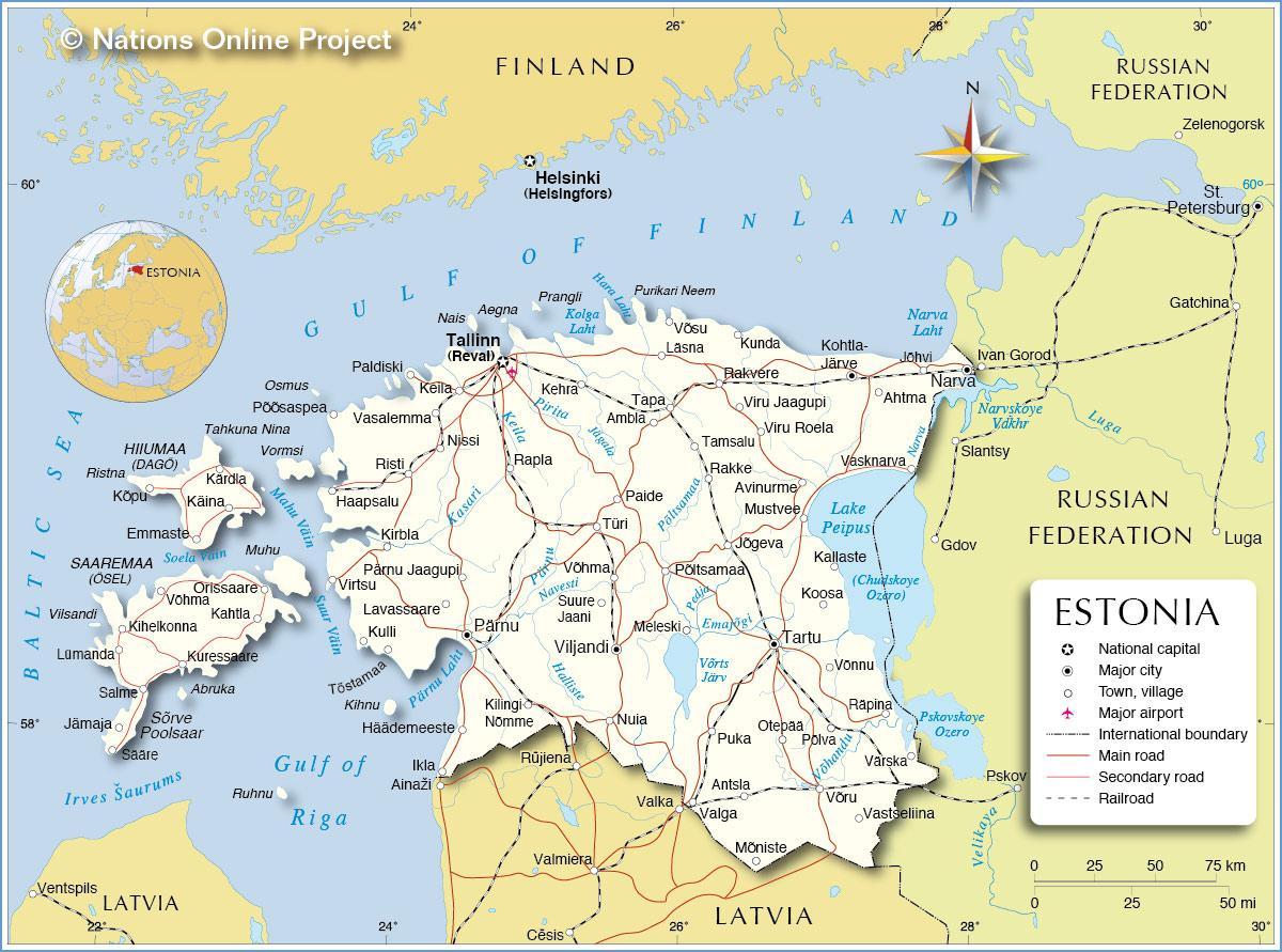 estland kart Estland city map   Kart over Estland city (Nord Europa   Europa) estland kart